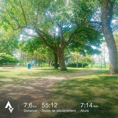 Sortie longue de la semaine. 1h de footing avec 2 x 6' à 175 bpm prévus. C'était pas la grande forme avec des jambes lourdes. J'ai du mal à avancer. 🐢 mode tortue 🔛 Et évidemment c'est au bout de 45' de course que je me suis senti bien... Ça m'a rappelé une sortie à Toulouse ou j'avais mis 50' pour apprécier ma sortie... Ça arrive.  Mais comme souvent je suis contente une fois la sortie faite. #run #runner #running #runninggirl #runningaddict #runnerscommunity #courseapied #quicherunpower #runinmontreal #runinmontréal #instarun #instarunners #instarunning